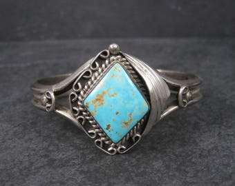 Vintage RoystonTurquoise Cuff Bracelet by Navajo Tom Billy