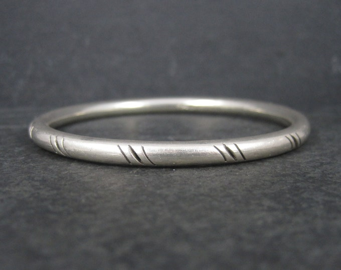 Vintage Mexican Sterling Bangle Bracelet 7 Inches