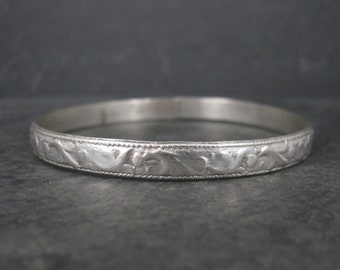 Vintage Mexican Alpaca Silver Bangle Bracelet 8 Inches