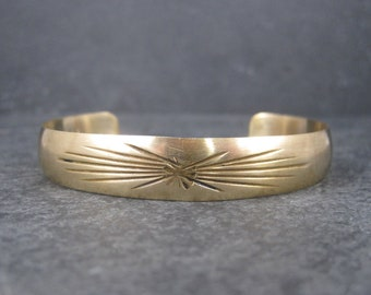Vintage Native American Gold Filled Cuff Bracelet 6.25 Inches Lee Allen Paquin