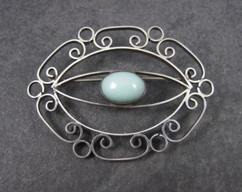 Vintage Mexican Sterling Filigree Brooch