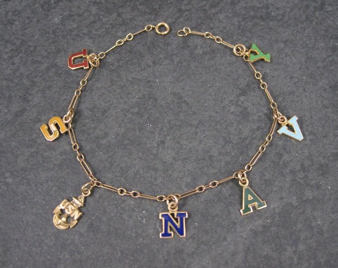 Vintage 10K WWII Navy Sweetheart Charm Bracelet