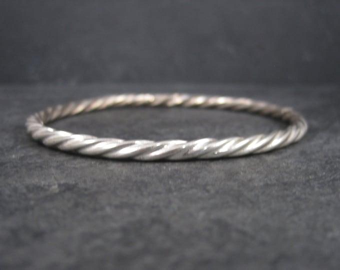 Vintage Sterling Twisted Bangle Bracelet 8 Inches
