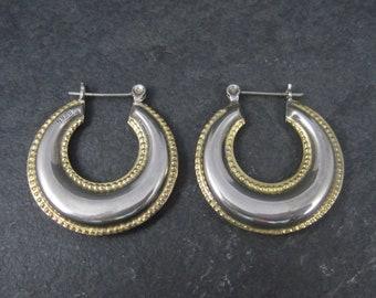 Vintage Sterling Latch Hoop Earrings