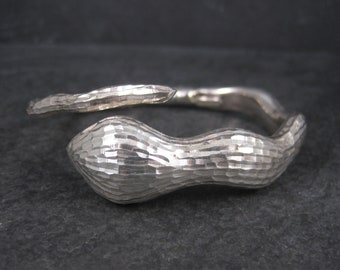 Italian Sterling Snake Bangle Bracelet 6.75 Inches