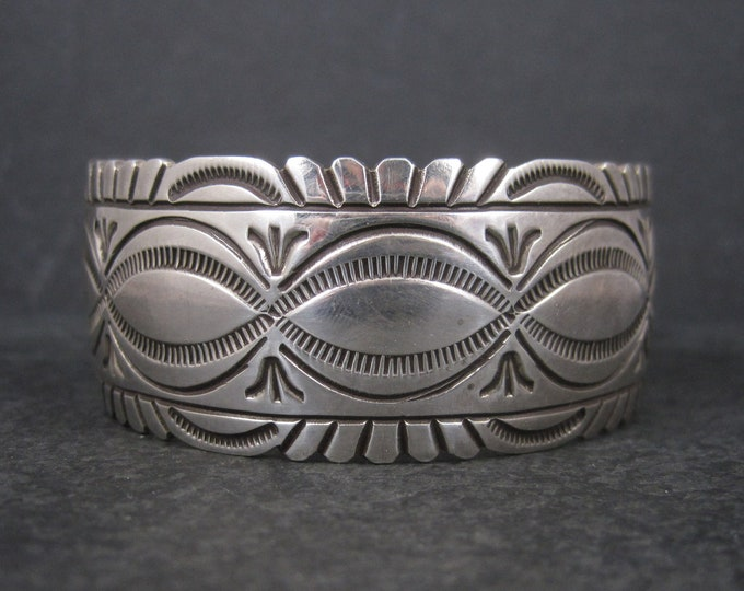 Featured listing image: Heavy Vintage Native American Cuff Bracelet 6.75 Inches