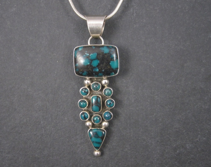 Vintage Sterling Chinese Turquoise Pendant