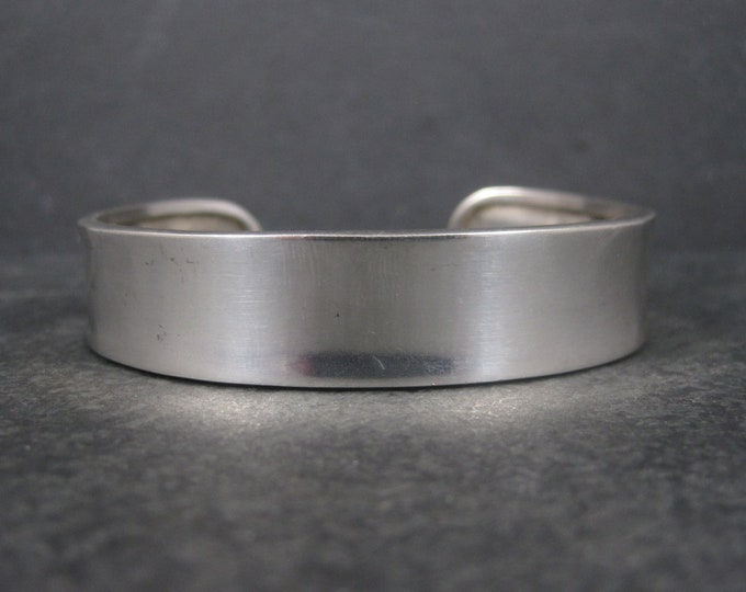 Simple Sterling Cuff Bracelet 7 Inches