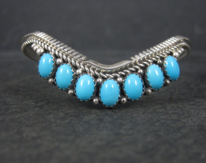 Featured listing image: Southwestern Sleeping Beauty Turquoise Cuff Bracelet 6.25 Inches
