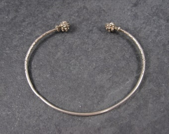 Dainty Sterling Cuff Bracelet 6 Inches