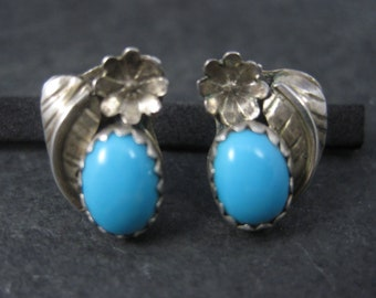 Vintage Southwestern Sterling Turquoise Stud Earrings