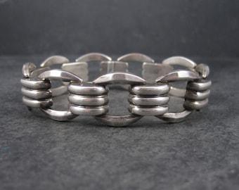 Vintage Sterling Link Bracelet 7.5 Inches