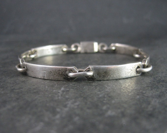 Vintage Mexican Sterling Link Bracelet 7.5 Inches
