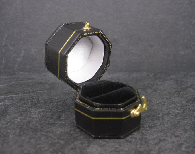 Vintage Style Black Engagement Ring Box
