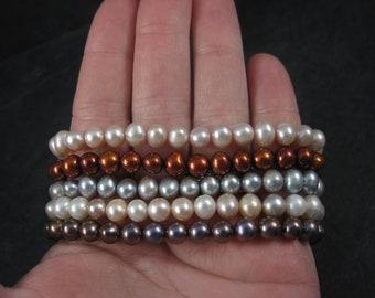 Lot of 5 Vintage Genuine Pearl Bracelets