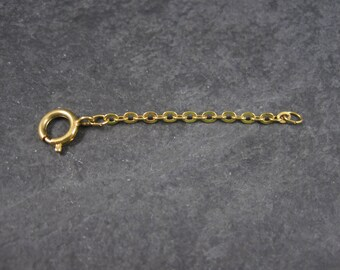 Vintage Gold Tone Necklace Extension 2.25 Inches Chain Extender Large Spring Ring