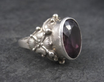 Vintage Sterling Amethyst Ring Size 6 Carol Felley