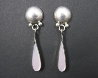 Vintage Southwestern Sterling Pink Mother of Pearl Earrings