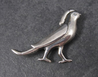 Vintage Mexican Sterling Bird Partridge Brooch