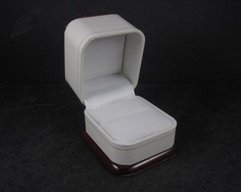 Antique Style White Rosewood Engagement Ring Box