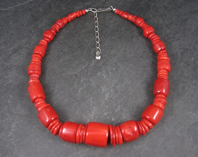 Chunky Genuine Coral Necklace 18-21 Inches Desert Rose Trading