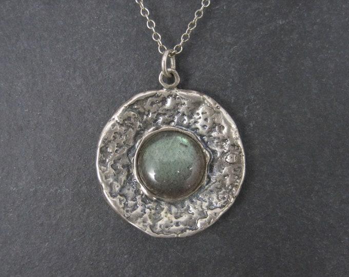 Vintage Sterling Labradorite Pendant Necklace