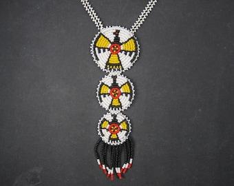 Vintage Sioux Beaded Thunderbird Necklace