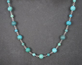 Vintage QVC 36 Inches Turquoise Bead Necklace Whitney Kelly