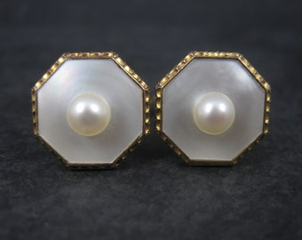 Vintage Gold Filled Mother of Pearl Cufflinks