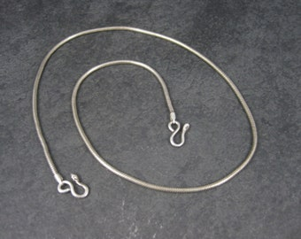 Vintage Sterling 2mm Snake Chain 18.25 Inches