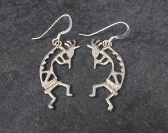 Vintage Sterling Kokopelli Earrings