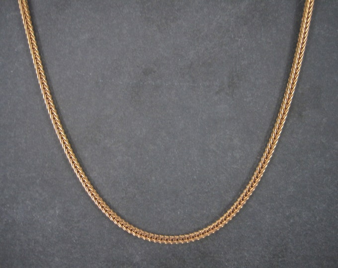 Vintage 3mm Wheat Chain Gold Over Stainless Steel 20 Inches