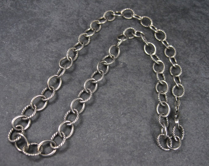 Vintage Italian Sterling Link Chain Necklace 17 Inches