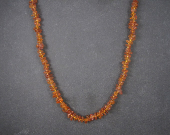 Vintage Amber Necklace Hand Knotted 32 Inches