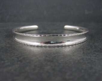Simple Vintage Sterling Cuff Bracelet 7 Inches