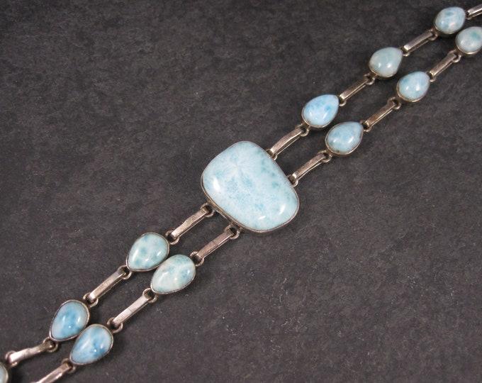 Featured listing image: Vintage Sterling Larimar Bracelet 8 Inches