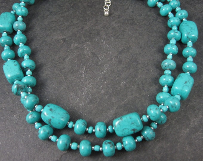 Premier Designs 2 Strand Turquoise Necklace 17-20 Inches