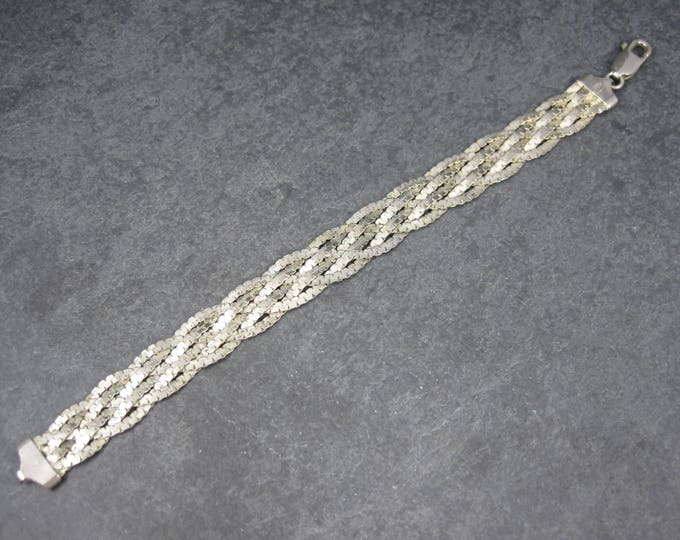 Vintage Italian Sterling Braided Bracelet 7.5 Inches