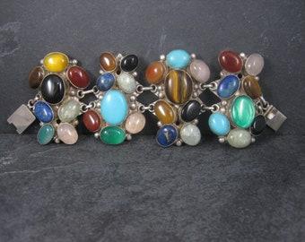 Massive Custom Multi Gemstone Statement Bracelet 7.5 Inches