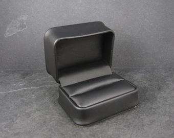 Black Leatherette Double Wedding Ring Box