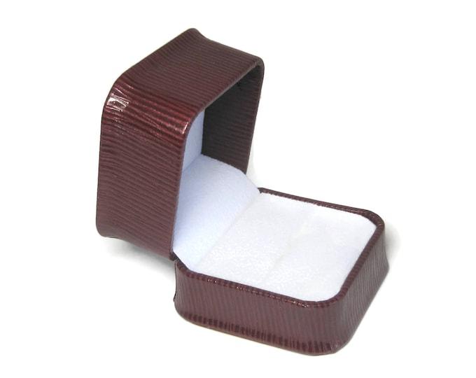 Maroon Engagement Ring Box