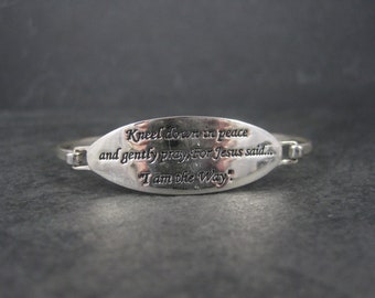 This Sterling Kneel Down In Peace Bracelet 6.75 Inches