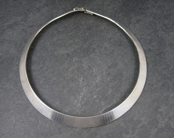 Vintage Italian Sterling 10mm Choker Necklace 14 Inches