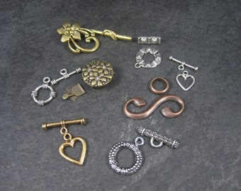 Lot of 8 Clasps for Jewelry Making