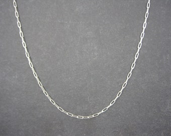 Vintage Italian Sterling Chain Necklace 2mm 30 Inches