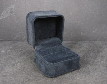 Blue Suede Engagement Ring Box