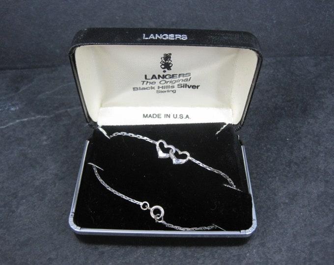 Vintage Black Hills Sterling Heart Bracelet 6.5 Inches