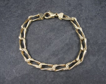 Vintage Italian 14K Chain Bracelet 7 Inches