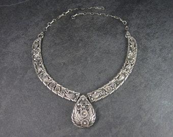 Vintage Navajo Floral Feather Necklace Pete Morgan