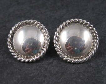 Vintage Southwestern Sterling Concho Earrings